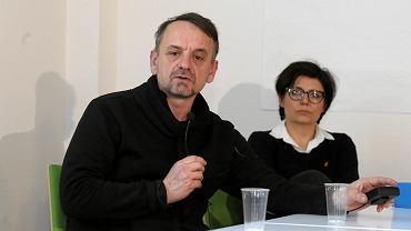 Marek Piwowarski i Justyna Glusman podczas spotkania z mieszkańcami Powiśla i właścicielami klubów nad Wisłą