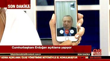 Apel prezydenta Turcji do narodu za pomocą komunikatora internetowego Apple