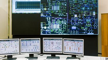 Komsomolsk, Rosja, panel kontrolny elektrowni należącej do Inter RAO.