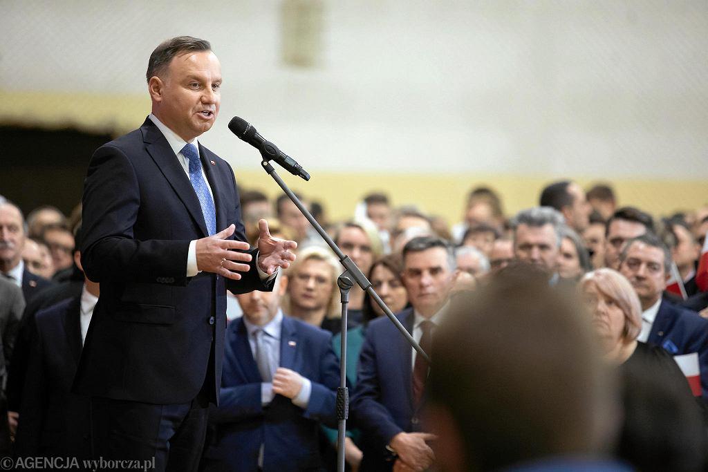 Lubartów. Andrzej Duda ogłasza swój start w wyborach prezydenckich