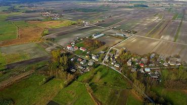Strzeszkowice w gminie Wodzisław, zdjęcie z drona