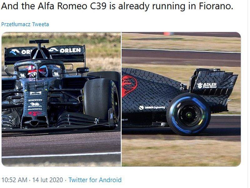Bolid Alfy Romeo