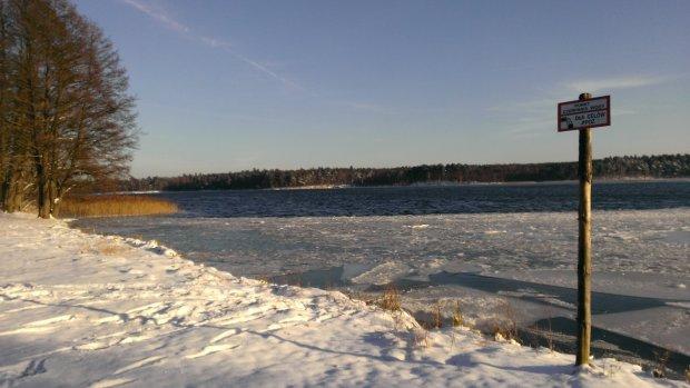 Jezioro Nidzkie zimą