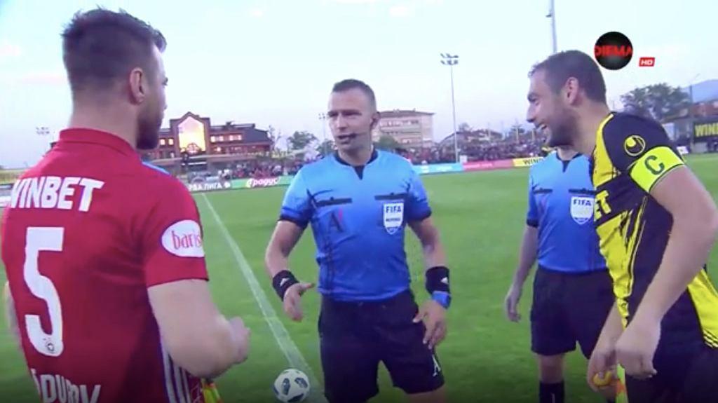 Bitwa na jajka przed meczem ligi bułgarskiej