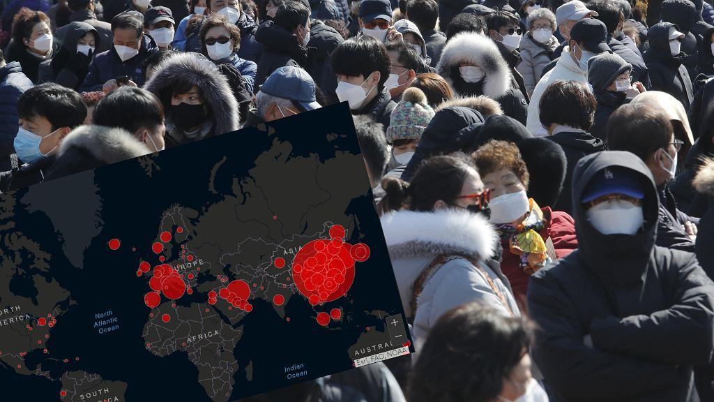Interaktywna mapa koronawirusa