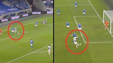 Jean-Philippe Mateta i Christian Benteke w meczu Brighton z Crystal Palace (1:2). Gol. Źródło: Twitter