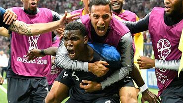 MŚ 2018. Francja celebruje gola Paula Pogby