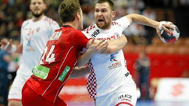 Ivan Cupić podczas meczu Norwegia - Chorwacja