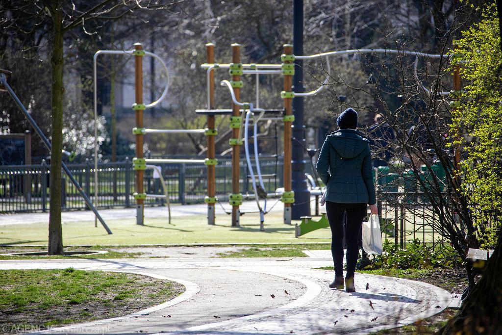 Park Kochanowskiego w Bydgoszczy w czasie epidemii koronawirusa