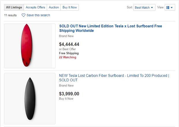 Tesla Surfboard na ebayu