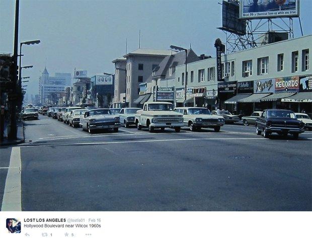 Hollywood Boulevard w latach 60. XX-wieku