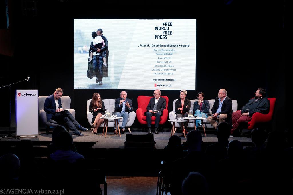 Debata o mediach FREE WORLD FREE PRESS w siedzibie 'Gazety Wyborczej' w Warszawie