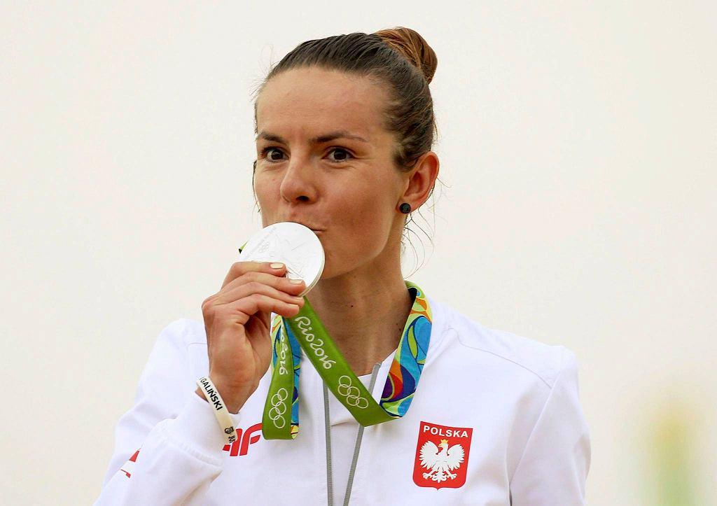 Maja Włoszczowska ze srebrnym medalem z Rio