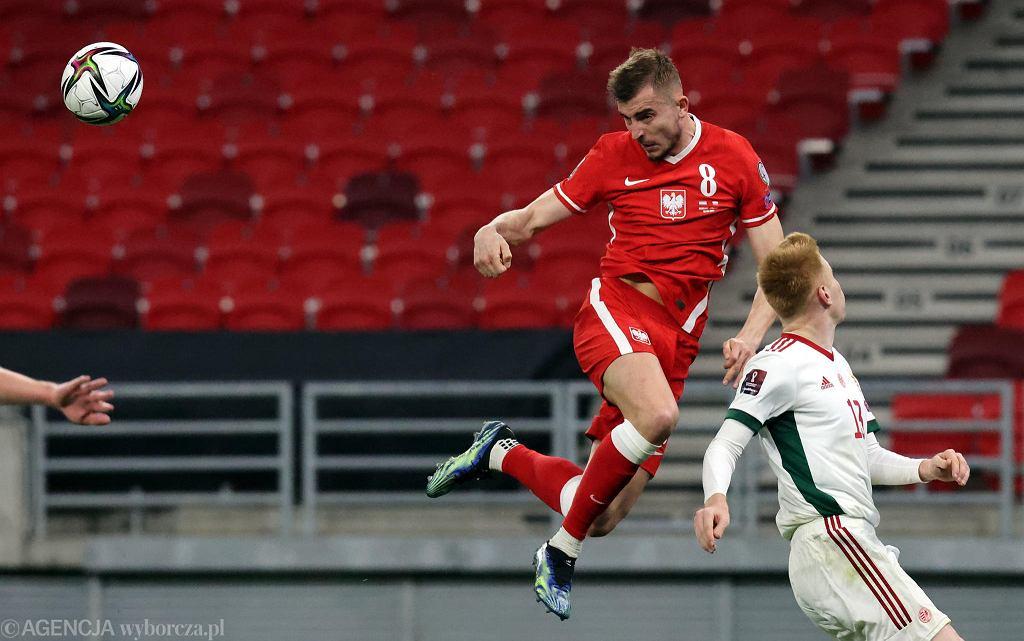 Michał Helik w meczu Węgry - Polska (3:3)