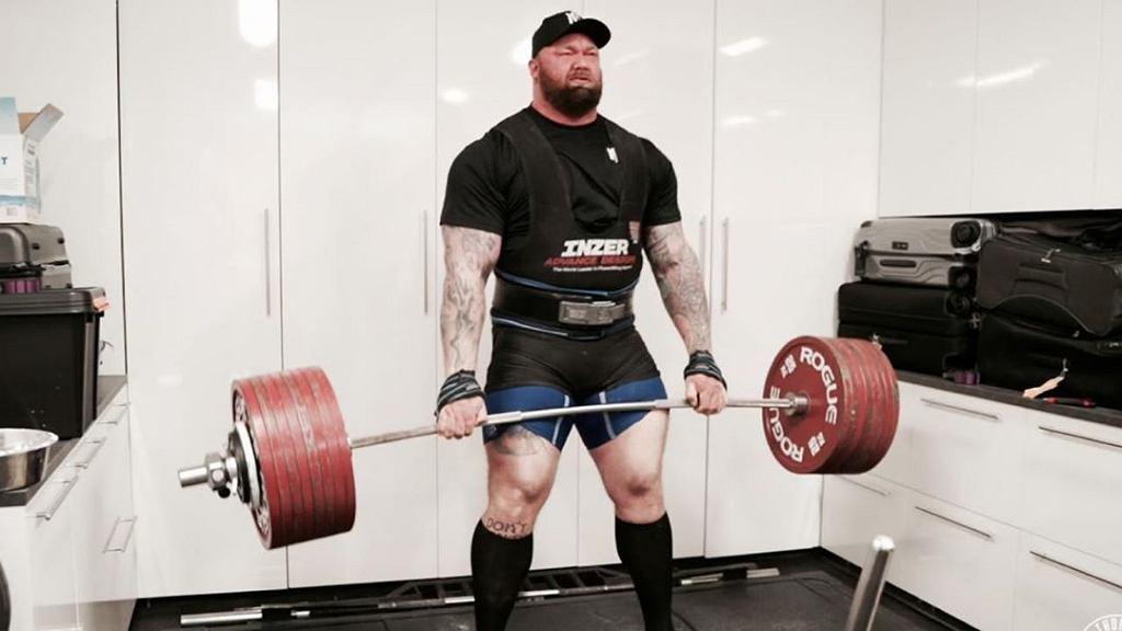 Hafthor Bjornsson - rekord świata w martwym ciągu