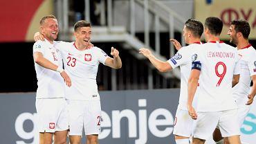 Krzysztof Piątek podczas meczu Macedonia Północna - Polska w ramach eliminacji do EURO 2020