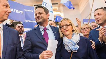 Małgorzata Trzaskowska z mężem Rafałem
