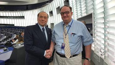 Jacek Saryusz-Wolski i Silvio Berlusconi