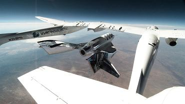 Virgin Galactic. Lot testowy SpaceShipTwo Unity.