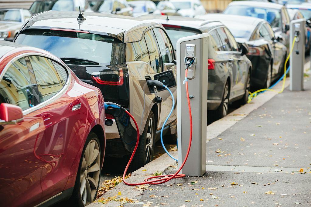 Samochody elektryczne, zdjęcie ilustracyjne.