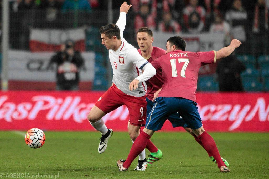 Polska - Serbia 1:0 w meczu towarzyskim w Poznaniu. Robert Lewandowski