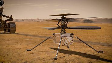 Łazik Perseverance i helikopter Ingenuity Mars - wizja artysty