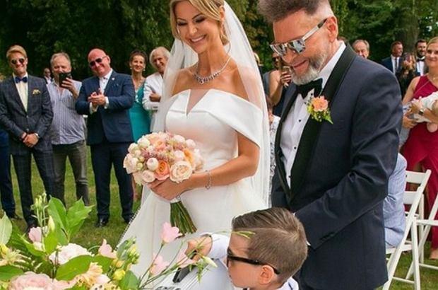 Krzysztof Rutkowski i Maja Plich wzięli ślub. Ich 6-letni syn Krzysztof junior miał bardzo ważną rolę podczas uroczystości.