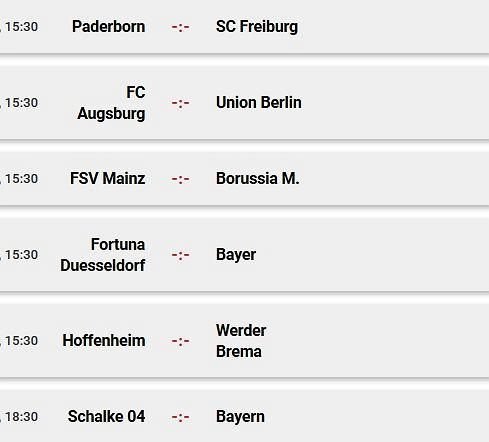 Sobotnie mecze Bundesligi
