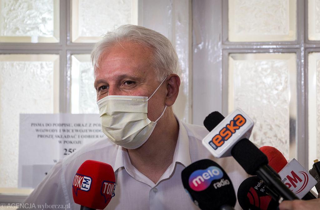 Dominik Kolorz, szef Solidarności na Śląsku
