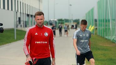 Artur Boruc na pierwszym treningu po powrocie do Legii