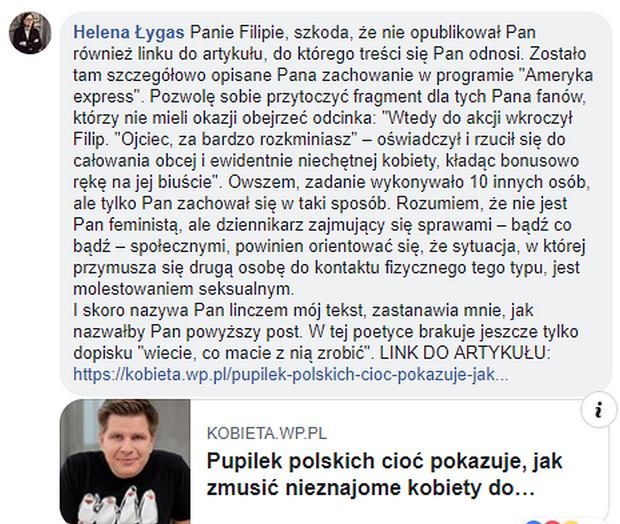 Filip Chajzer atakuje dziennikarkę