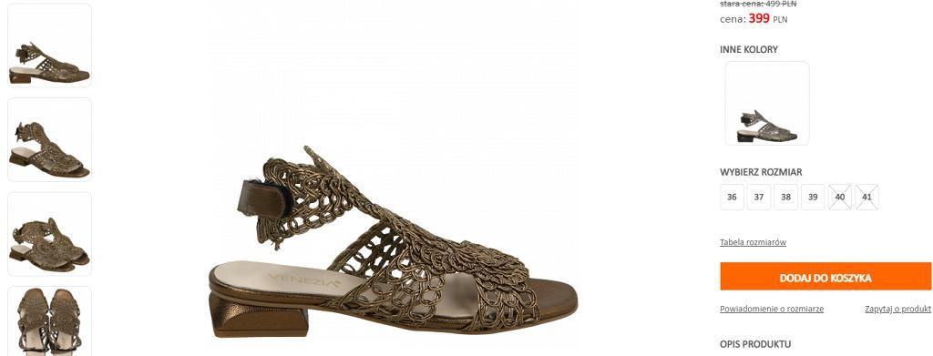 sandały ażurowe Venezia