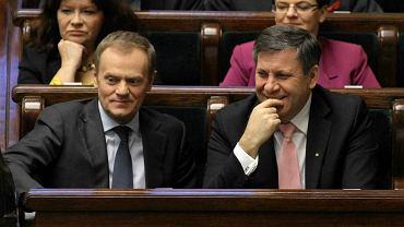 Donald Tusk i Janusz Piechociński