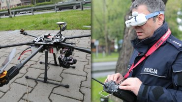Policja używa dronów