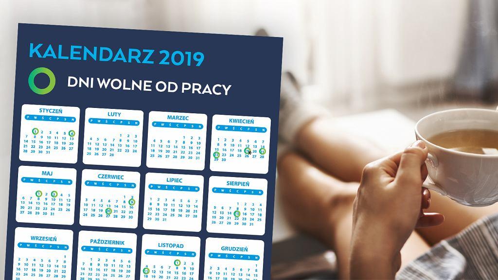 Dni wolne w 2019 r. - kalendarz
