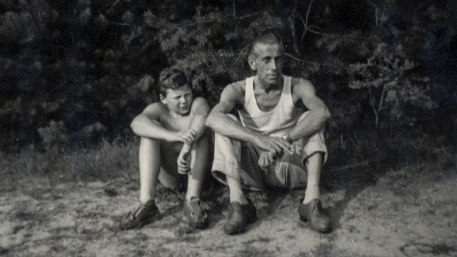 Wojciech Mann z ojcem Kazimierzem