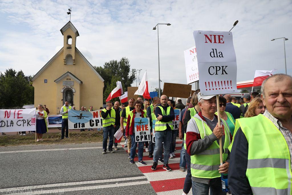 Protest przeciwko budowie Centralnego Portu Lotniczego