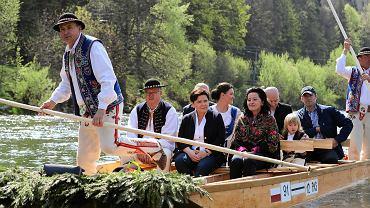 Rozpoczęcie sezonu flisackiego na Dunajcu, z udziałem wicepremier ds. społecznych Beaty Szydło
