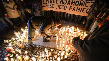 Światełko pamięci Pawła Adamowicza