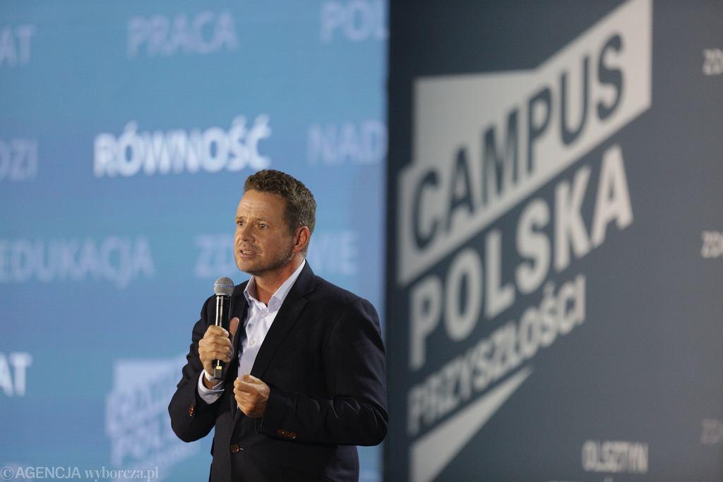 Rafał Trzaskowski podczas Campus Polska Przyszłości