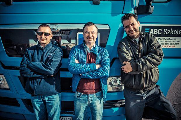 Instruktor Krzysztof Wróblewski, Paweł Żuchowski z firmy ABC Szkolenia i ja. Trafiłem w dobre ręce.