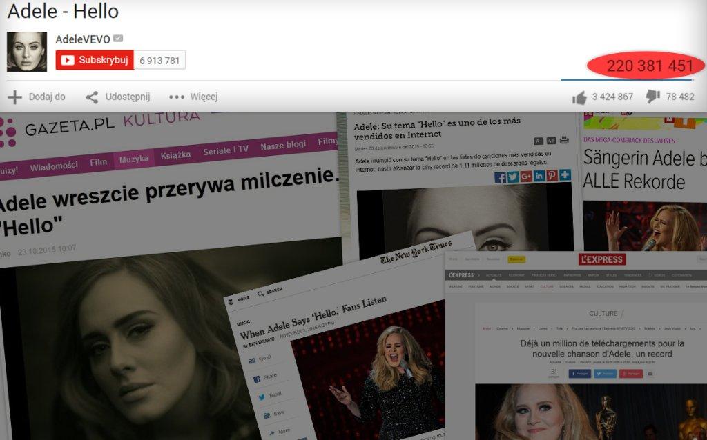 Światowe media o powrocie Adele