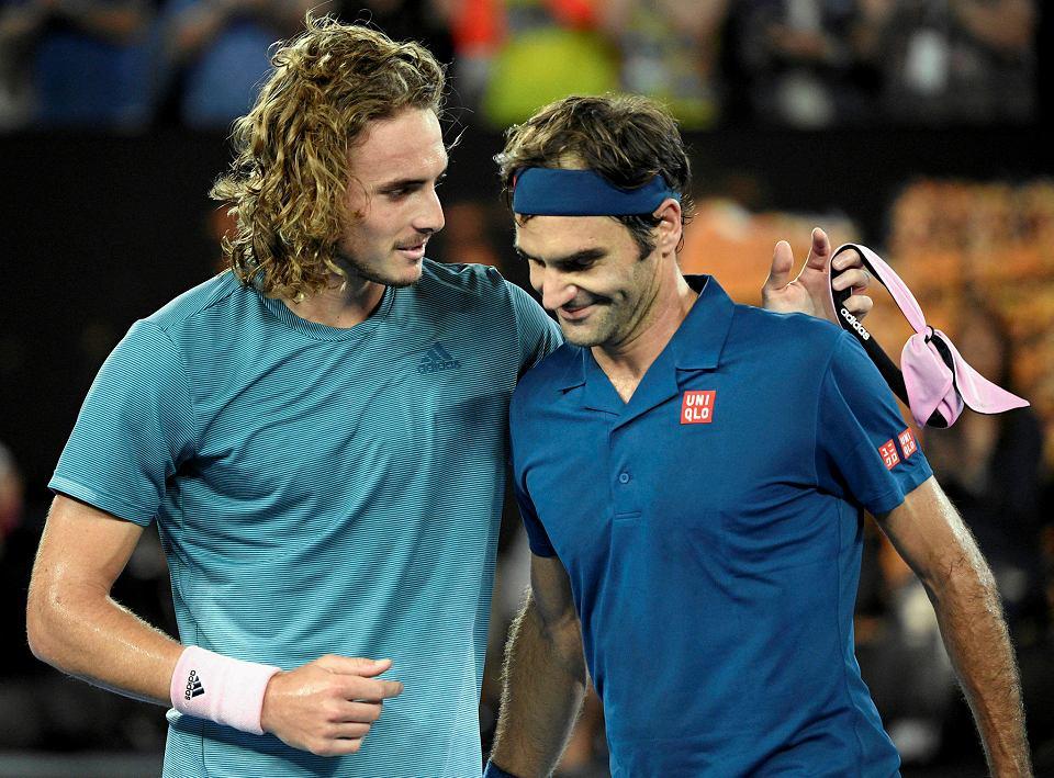 Stefanos Tsitsipas i Roger Federer