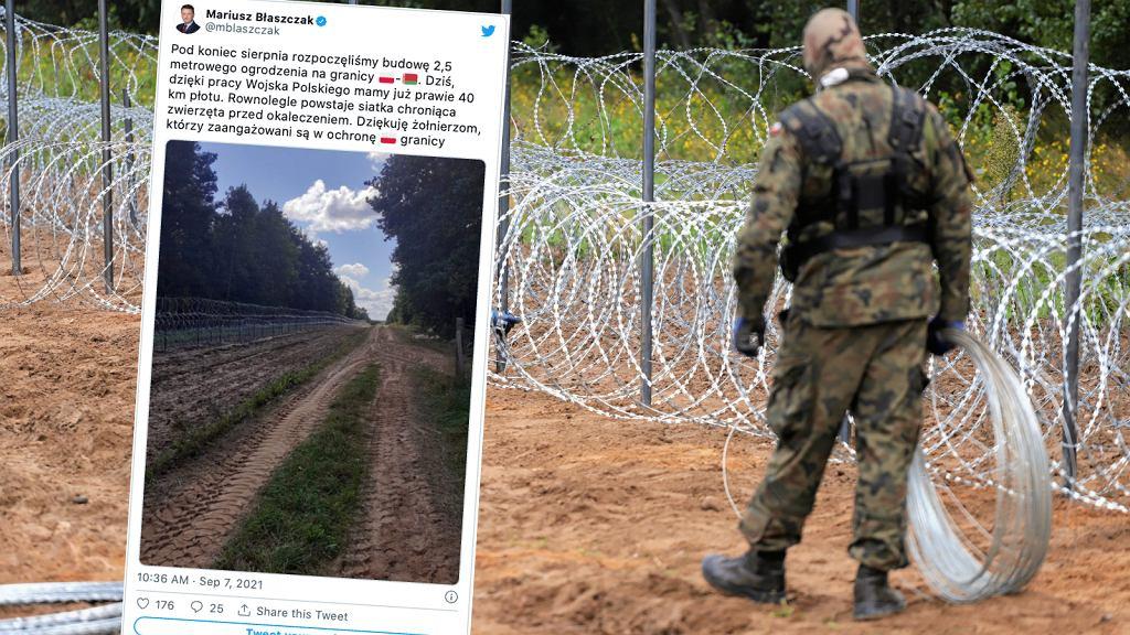 Budowa płotu na polsko-białoruskiej granicy