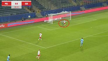 Polska - Izrael U-21, Gol Kacpra Smolińskiego
