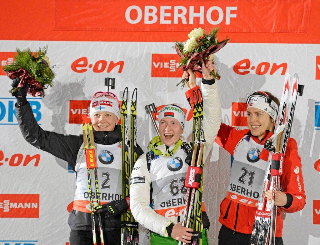 Kaisa Makarainen, Daria Domraczewa i Synnoeve Solemdal