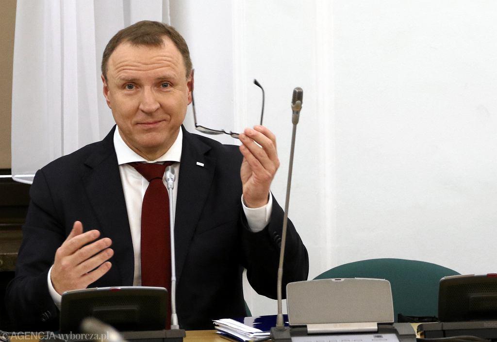 Prezes TVP z nadania PiS Jacek Kurski. Warszawa, 9 stycznia 2018