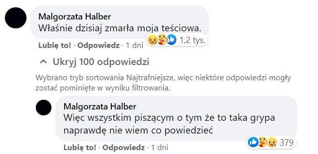 Komentarz Małgorzaty Halber