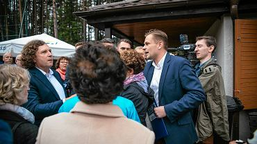 Festyn z okazji inauguracji budowy szpitala dziennikarze TVP wykorzystali do ataku na Jacka Karnowskiego.