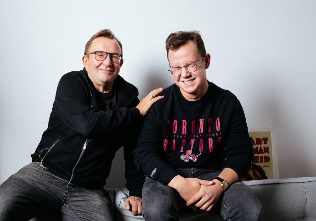 Rafał Bryndal z synem Tymkiem